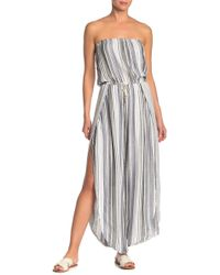 On The Road Bethany Stripe Strapless Jumpsuit - Multicolour