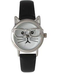 Olivia Pratt - Women's Cat In Glasses Quartz Watch - Lyst