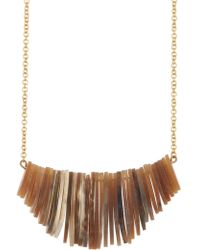 Soko - Stacked Horn Frontal Necklace - Lyst