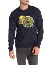 Original Penguin - Lemon Graphic Crew Neck Sweater - Lyst