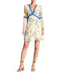 Fraiche By J - Eyelet Floral Babydoll Dress - Lyst
