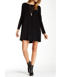 Go Couture - Long Sleeve Boatneck Dress - Lyst