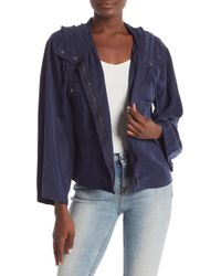 Vince Camuto - Relaxed Hooded Bell Sleeve Jacket - Lyst