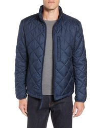 Andrew Marc Humbolt Faux Shearling Lined Quilted Jacket - Blue