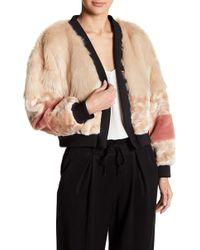 On The Road - Paris Faux Fur Jacket - Lyst