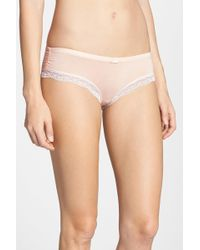 Felina - 'inviting' Lace Trim Hipster Bikini - Lyst