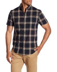 Original Penguin - Plaid Short Sleeve Slim Fit Shirt - Lyst