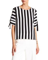 Vince Camuto - Spectator Stripe Tie Cuff Blouse - Lyst