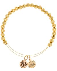ALEX AND ANI - Euphrates Beaded Extendable Wire Bangle - Lyst