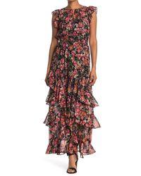 RACHEL Rachel Roy Issa Floral Ruffled Maxi Dress - Multicolour