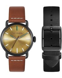 Ted Baker Tomcoll Leather Strap Box Set - Multicolor