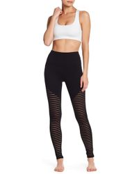 Electric Yoga - Barred High Rise Leggings - Lyst