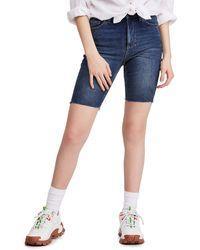 BDG Urban Outfitters Denim Bike Shorts - Blue