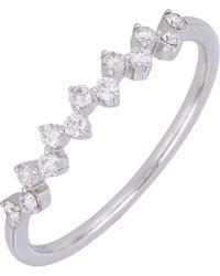 Bony Levy - 18k White Gold Alternating Prong Set Diamond Band Ring - 0.21 Ctw - Lyst