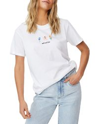 Cotton On Classic Arts T-shirt - White