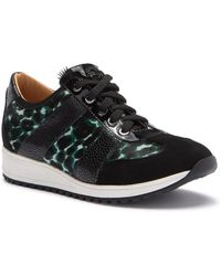 Longchamp Le Pliage Heritage Genuine Calf Hair Sneaker - Black