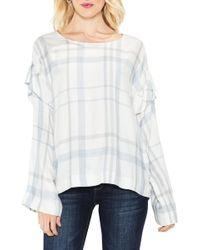 Two By Vince Camuto - Bell Sleeve Ruffle Space Dye Top - Lyst