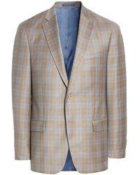 Hart Schaffner Marx New York Classic Fit Plaid Wool Sport Coat - Multicolour