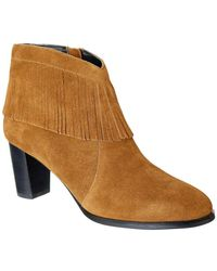 David Tate Misty Western Fringe Bootie - Multiple Widths Available - Brown