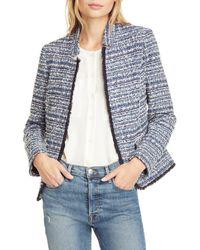 Helene Berman Womens Tweed Concealed Front Jacket