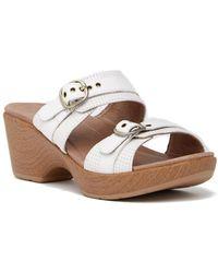 Dansko - Jessie Wedge Platform Leather Sandal - Lyst