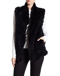 Love Token - Genuine Dyed Rabbit Fur High Neck Vest - Lyst