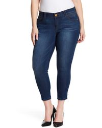 Democracy Stretch Ankle Skimmer Jeans - Blue