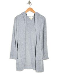 Love By Design Solid Mossy Hooded Cardigan - Gray
