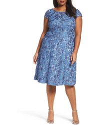 Alex Evenings - Rosette Fit & Flare Dress (plus Size) - Lyst