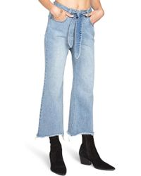 Amuse Society - All Tied Up Crop Flare Jeans - Lyst