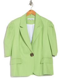 English Factory Short Puff Sleeve Jacket - Green