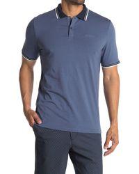 Ben Sherman Contrast Stripe Knit Polo - Blue