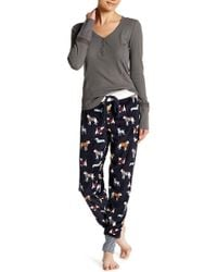 Pj Salvage - Dogs In Jumpers Velour Jogger Trousers - Lyst