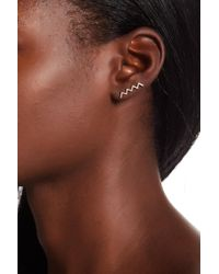 EF Collection - 14k Yellow Gold Zigzag Right Ear Crawler Earring - Lyst
