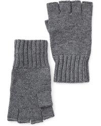 John Varvatos Fingerless Knit Gloves - Gray