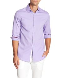 Michelsons Of London - Trim Fit Stretch Shirt - Lyst