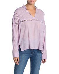O'neill Sportswear Seaside Long Sleeve Gauze Top - Purple