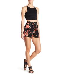Romeo and Juliet Couture - Floral Print Shorts - Lyst
