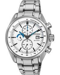 Citizen - Men's Eco-drive Htm Stainless Chrono Bracelet Watch - Lyst