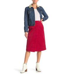 Paul & Joe Luiza Corduroy Midi Skirt - Red