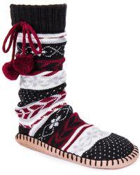 Muk Luks - Poms Slipper Socks - Lyst
