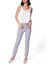 PAIGE Hoxton Snake Print High Waist Ankle Slim Jeans - Multicolour