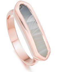 Monica Vinader 18k Rose Gold Plated Sterling Silver Baja Ring - Metallic