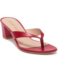 Stuart Weitzman Brigida Thong Sandal - Red