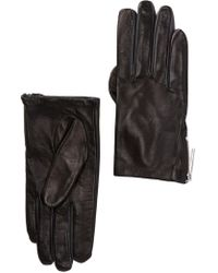 MICHAEL Michael Kors - Zip Leather Gloves - Lyst