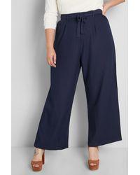 ModCloth The Savannah Wide Leg Pants - Blue