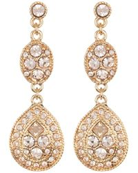 Givenchy - Twist Trim Double Drop Crystal Earrings - Lyst