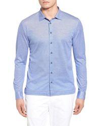 David Donahue - Knit Sport Shirt - Lyst