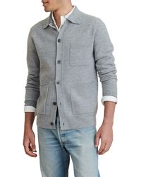 Alex Mill Boiled Wool Work Sweater Jacket - Gray