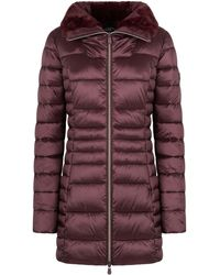 Save The Duck Faux Fur Collar Puffer Coat - Multicolor